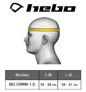 medidas casco hebo bicigrino